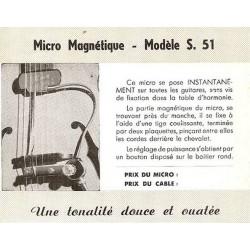 Première publicité du S 51 fabriqué par Yves Guen
